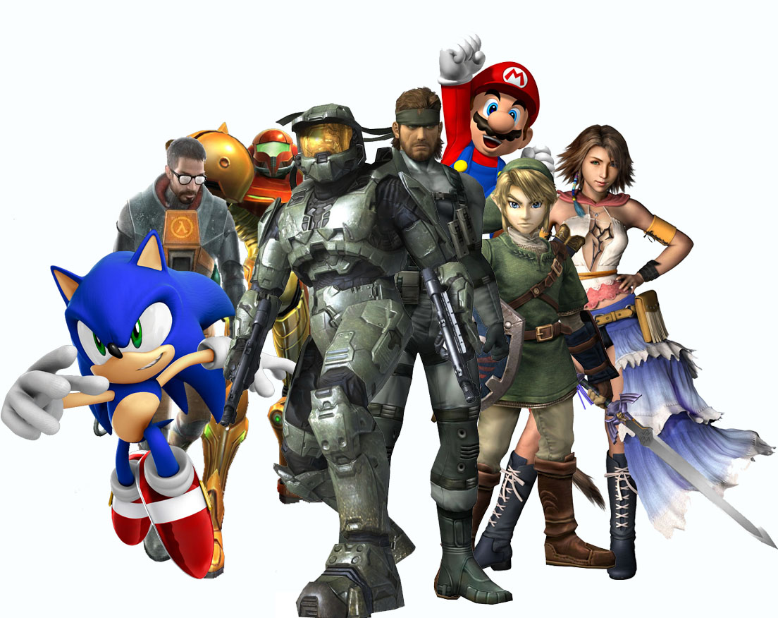 Video Game Characters Sonic in Front